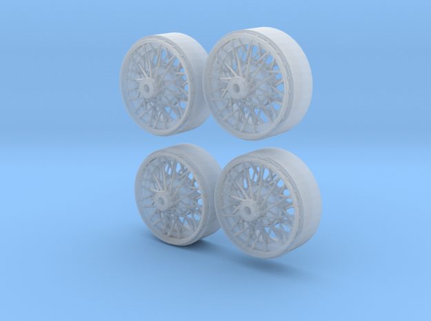 Front laced Borrani wire wheels in Smoothest Fine Detail Plastic