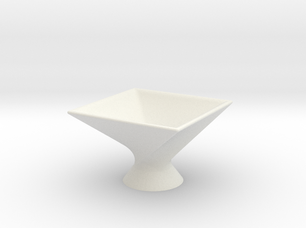 Twist Bowl in White Natural Versatile Plastic
