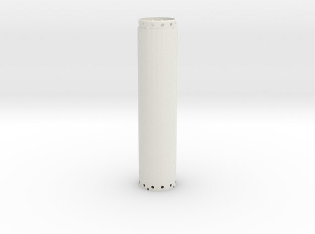 Casing joint 1200mm, lenght 5,00m in White Natural Versatile Plastic