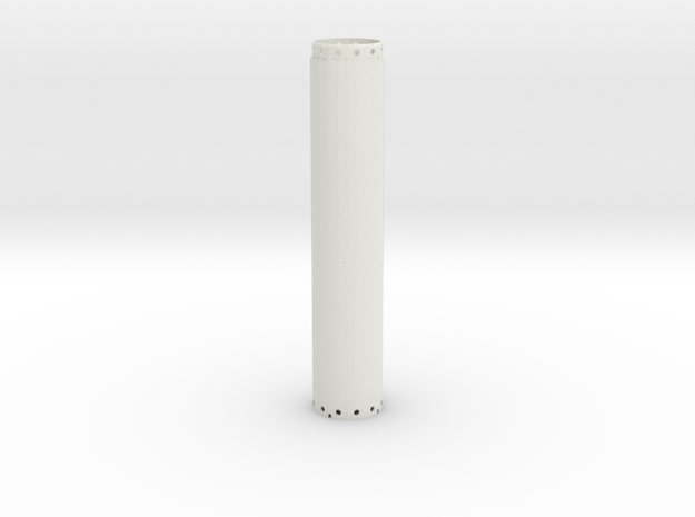 Casing joint 1200mm, lenght 6,00m in White Natural Versatile Plastic