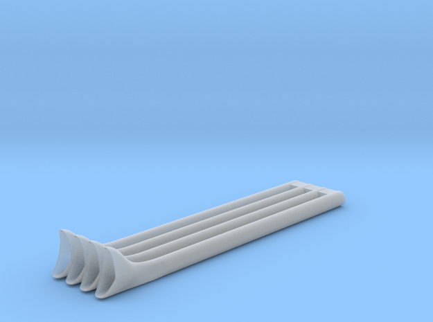 1/10 Fishtail Exhaust Version 2 in Smooth Fine Detail Plastic
