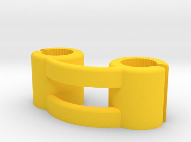 Teradek Bridge for 10mm Diameter Antenna in Yellow Processed Versatile Plastic