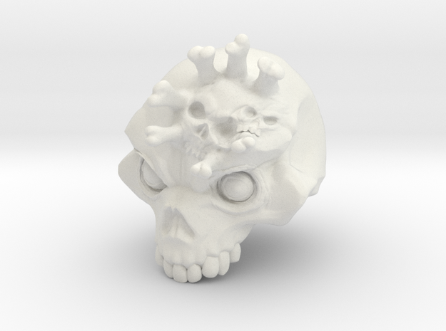 numbedskull in White Natural Versatile Plastic
