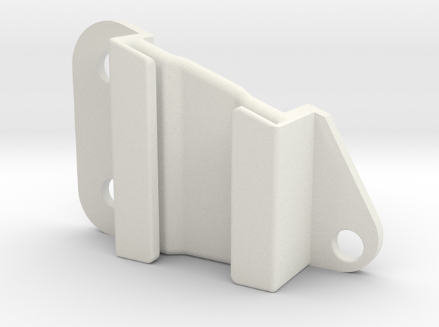 Lancia Delta 1 R front bumper mount  in White Natural Versatile Plastic