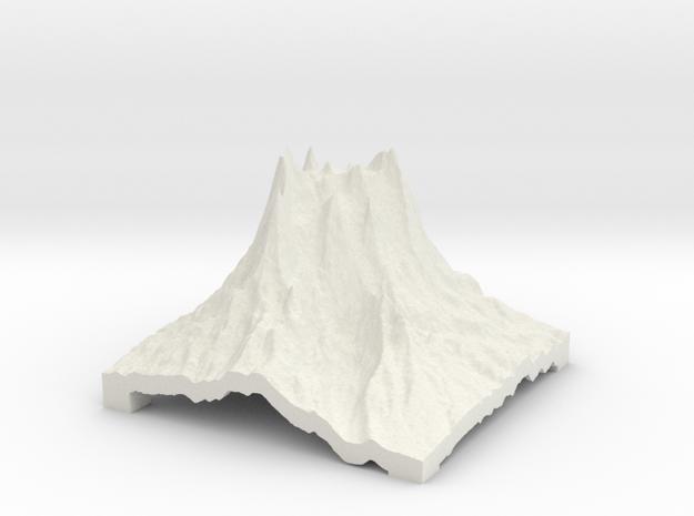 Mountain 2 in White Natural Versatile Plastic: Small