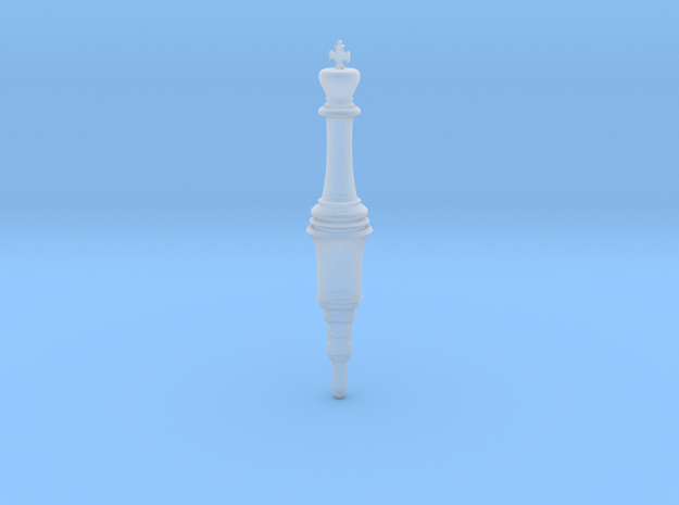 Resident Evil 2 Remake King Plug chess in Smooth Fine Detail Plastic