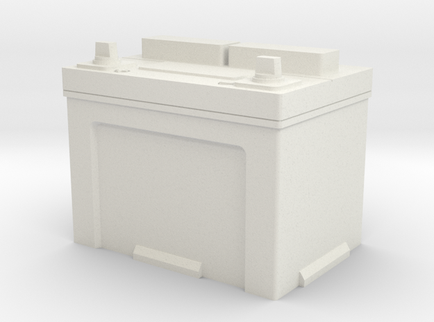 1/25 Battery in White Natural Versatile Plastic