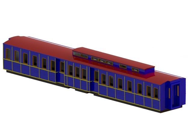 The Swedish King's railway wagon 1892 – N-scale in Smooth Fine Detail Plastic