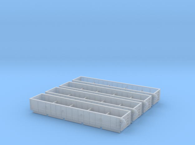 50ft Gondola Inserts Z Scale in Smooth Fine Detail Plastic