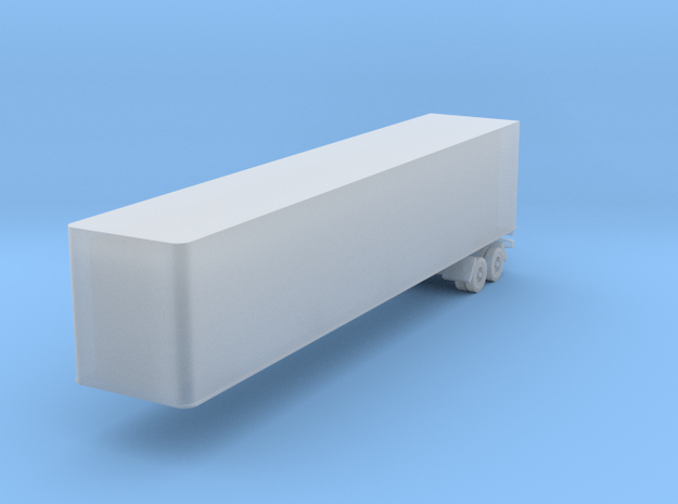 1:285 (6mm) 48 foot box trailer in Smooth Fine Detail Plastic