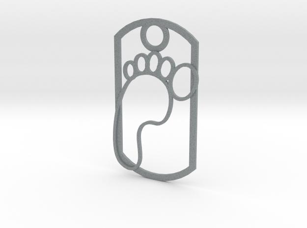 Footprint dog tag 3d printed