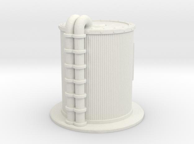 Oil Cistern 1/76 in White Natural Versatile Plastic
