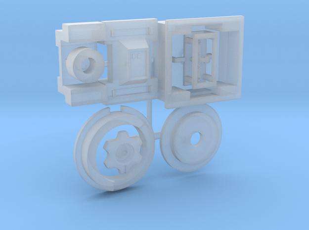 Moebius EVA Pod: Red Box, Door Handle, Handwheel in Smooth Fine Detail Plastic