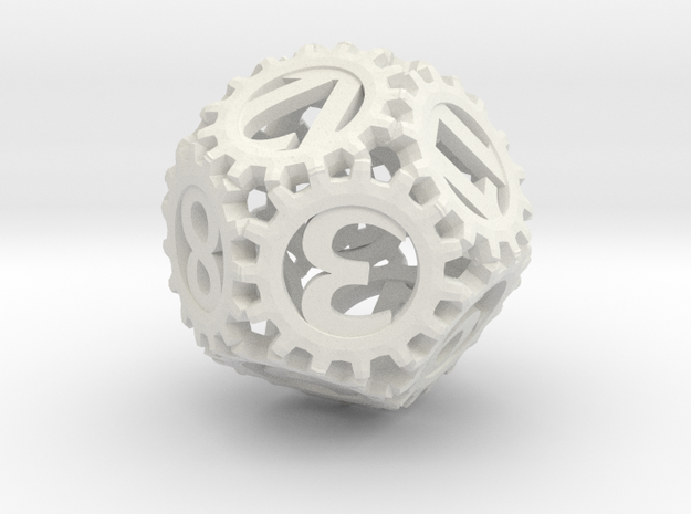 Static Gear (D12) in White Natural Versatile Plastic