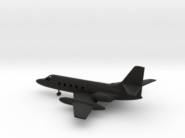 Lockheed L-1329 JetStar in Black Natural Versatile Plastic: 1:87 - HO