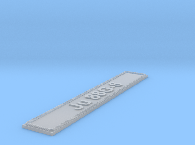 Nameplate Ju 88G-6 in Smoothest Fine Detail Plastic