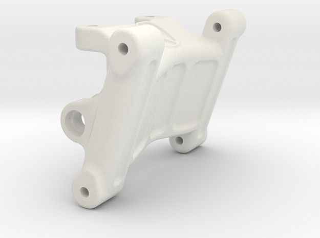 HPI Blitz Wheelie Bar Mount in White Natural Versatile Plastic
