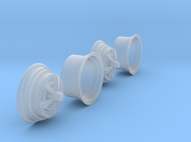 1/25 HQ GTS Wheels 10x14 2up 2pc in Smooth Fine Detail Plastic