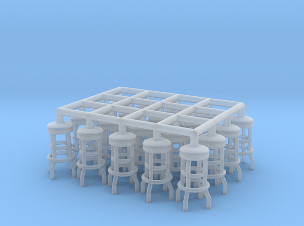 50's soda fountain bar stool 02. 1:50 Scale  in Smooth Fine Detail Plastic