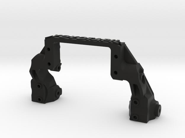 TRX-4 V4 servo on axle 4-link mount  in Black Natural Versatile Plastic