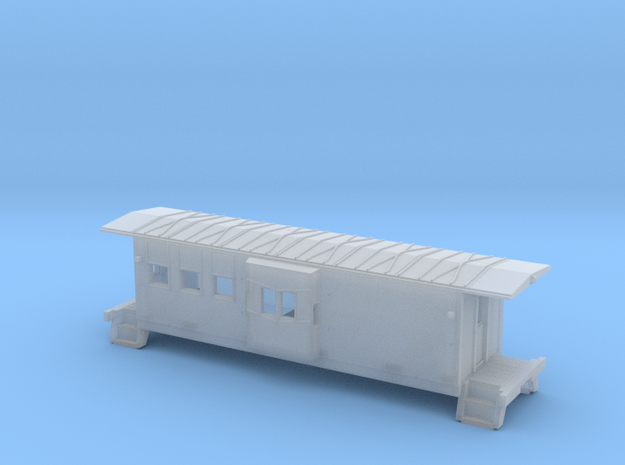 N Chessie C-27 Caboose Shell in Smoothest Fine Detail Plastic