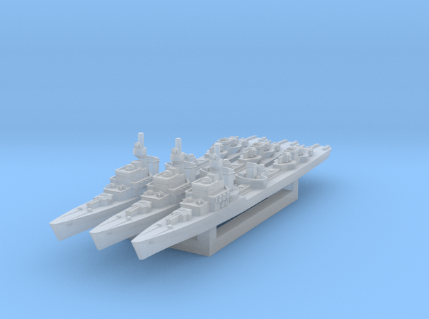 Z-23 Destroyer 1/1800 x3 in Smooth Fine Detail Plastic