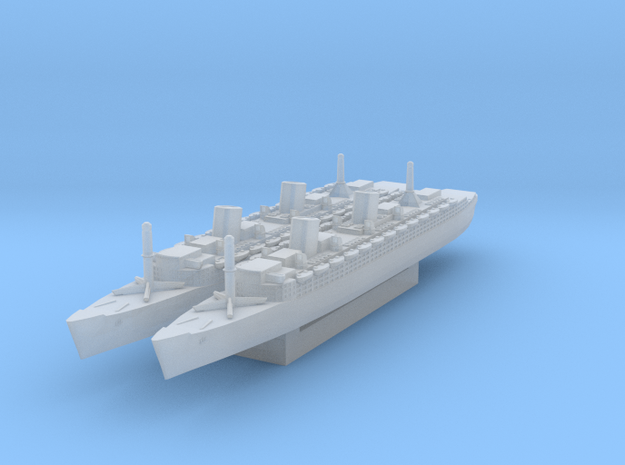 RMS Queen Elizabeth x2 (Axis & Allies) in Smooth Fine Detail Plastic