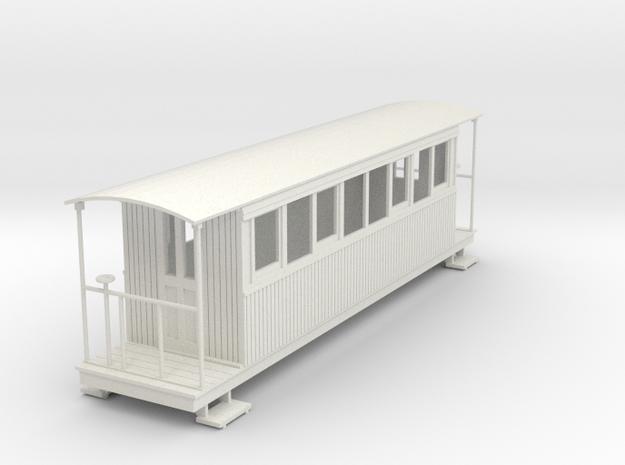o-43-redlake-tramway-bogie-coach in White Natural Versatile Plastic