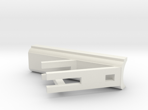 feed alley scraper for skidloader 1/50 scale in White Natural Versatile Plastic: 1:50