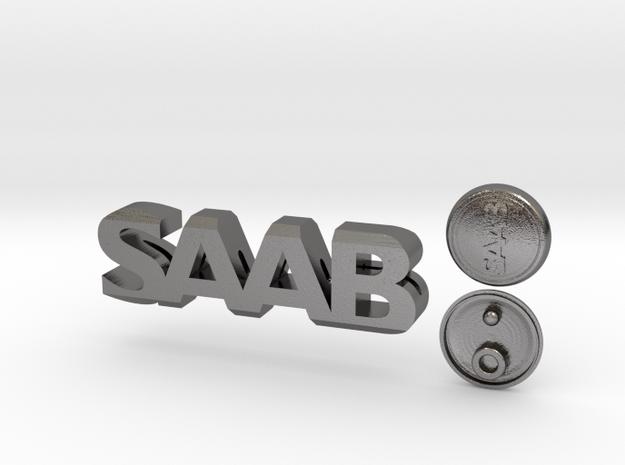 Saab Keychain Lanyard in Polished Nickel Steel