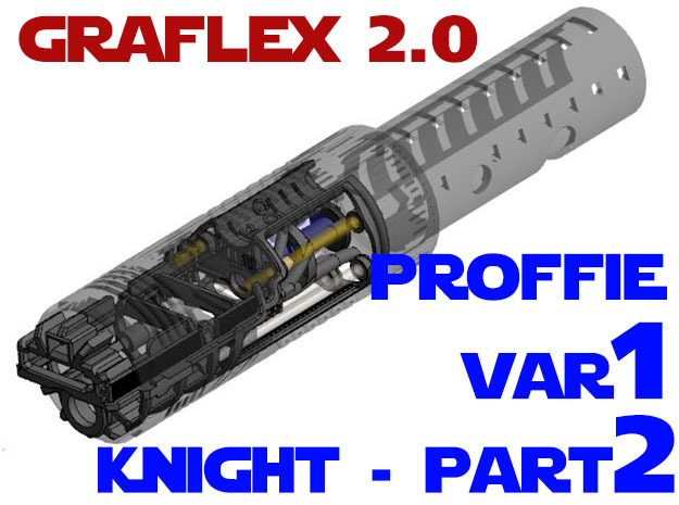 Graflex2.0 - Knight Chassis Var1 - Part2 Proffie in White Natural Versatile Plastic