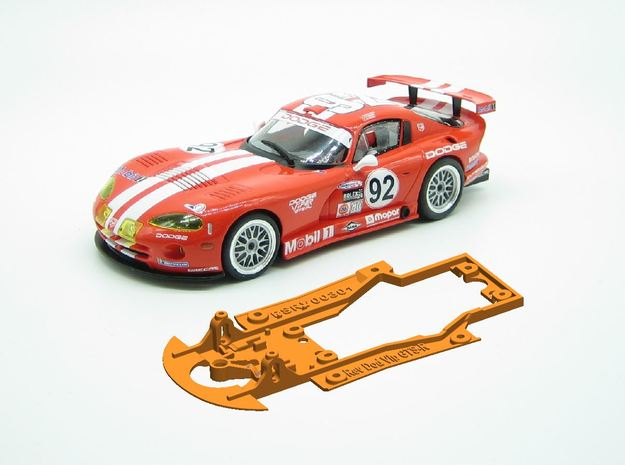 PSRV00301 Chassis for Revoslot Dodge Viper GTS-R in White Natural Versatile Plastic