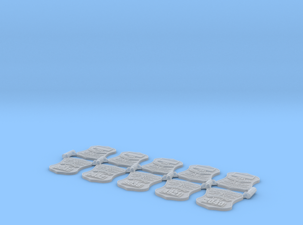 1:6 space police badges in Smooth Fine Detail Plastic