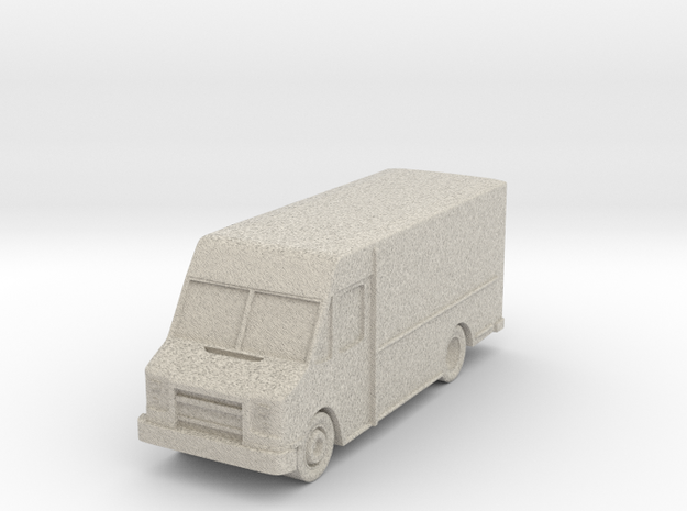 """Delivery Truck At 1""""=8' Scale in Natural Sandstone"""