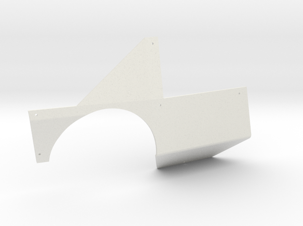 SCX24 Miller Motorsports Right Body Panel in White Natural Versatile Plastic