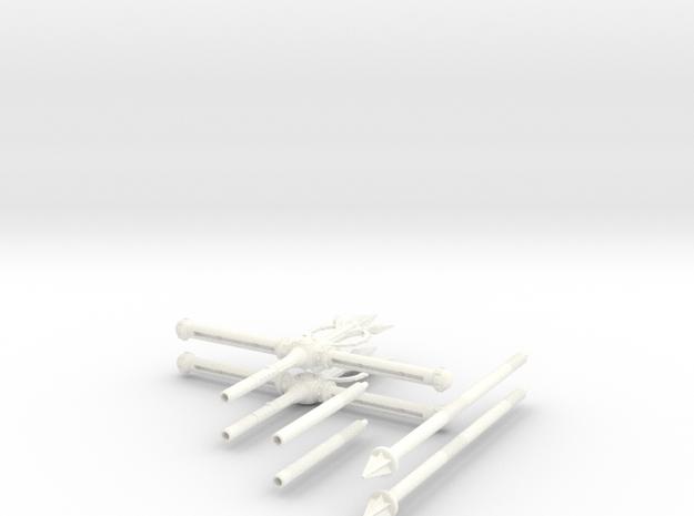 MOTUC 2 Grayskull Standards - Discount in White Processed Versatile Plastic