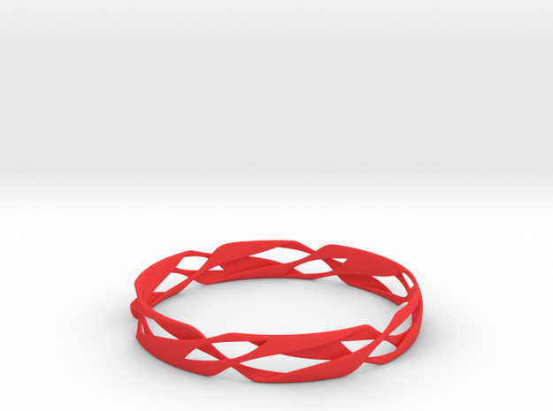Stripes Bangle 2 3d printed