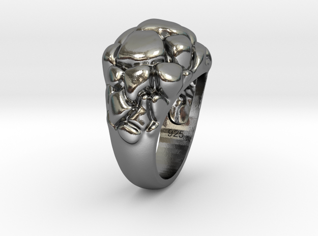 """Women's """"Future Ring"""" Sterling Silver 573 code in Polished Silver"""
