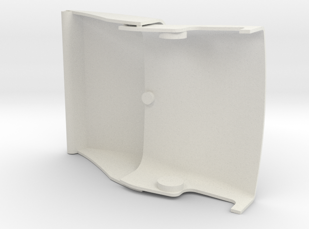 2.2M Ventru front cover part 1 and 2 in White Natural Versatile Plastic