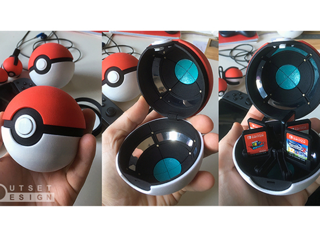 Pokeball - Display stand - 1:1 in Black Natural Versatile Plastic