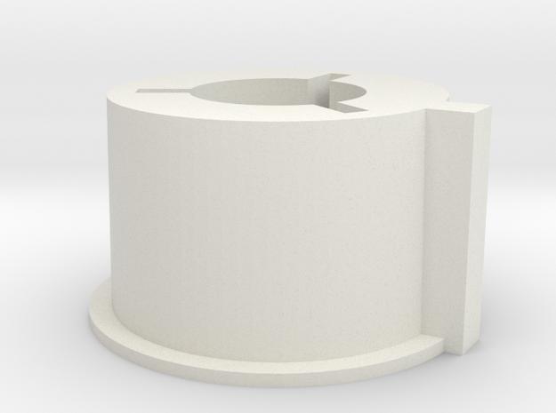 Super8 Rewinds Core Adapter in White Natural Versatile Plastic