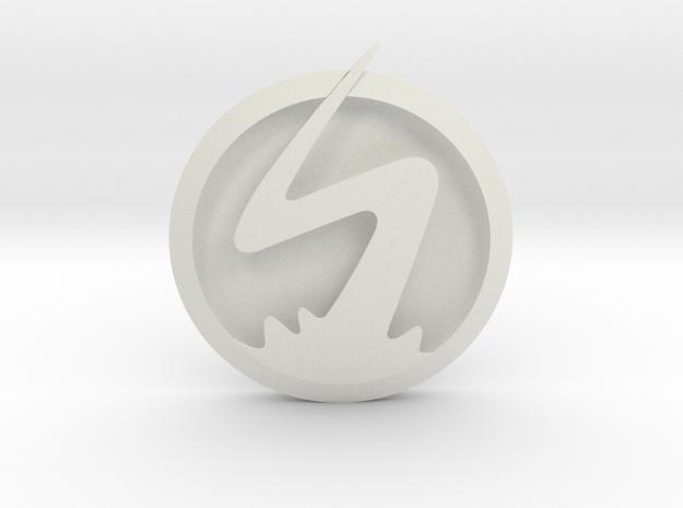 CW XS Emblem in White Natural Versatile Plastic