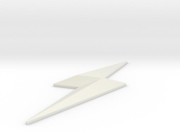 CW Jay Garrick Emblem in White Natural Versatile Plastic