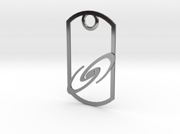 Spiral galaxy dog tag 3d printed