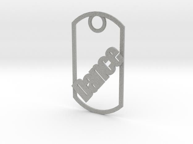 Dance dog tag 3d printed