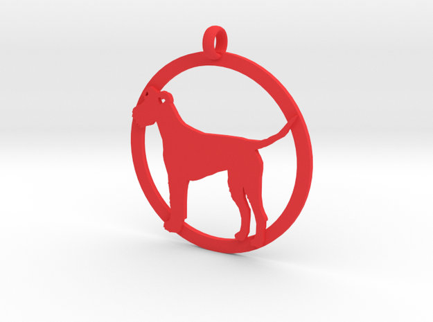 Irish Terrier charm in Red Processed Versatile Plastic