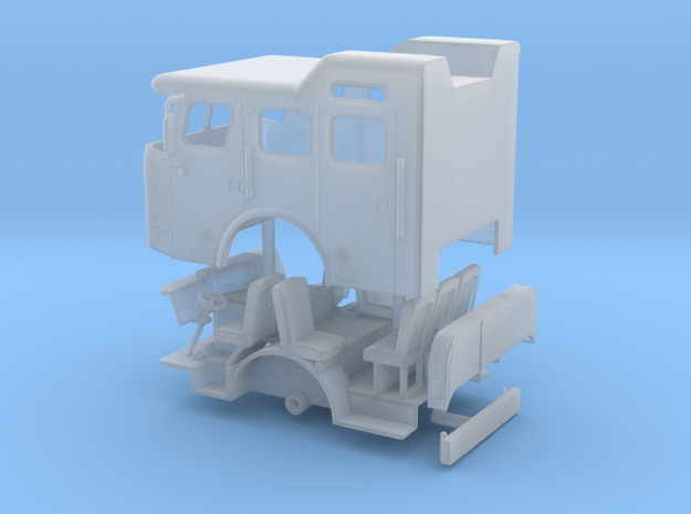 1/87 E-One Cyclone Split Roof Cab in Smooth Fine Detail Plastic