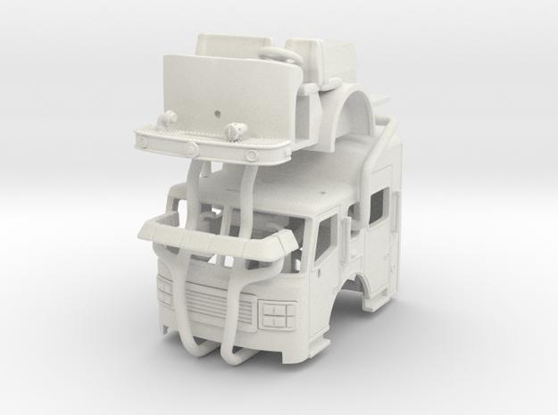 "1/87 ALF 24"" Raised Roof Heavy Rescue Cab UPDATED in White Natural Versatile Plastic"
