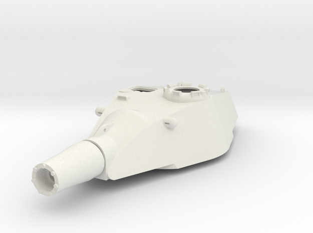 1:16 King TIger E-75 ausf B Turret Replacement in White Natural Versatile Plastic