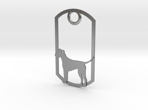 Irish Terrier dog tag 3d printed